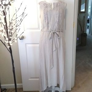 APT 9 lace embroidered hi-lo dress.  Size Large